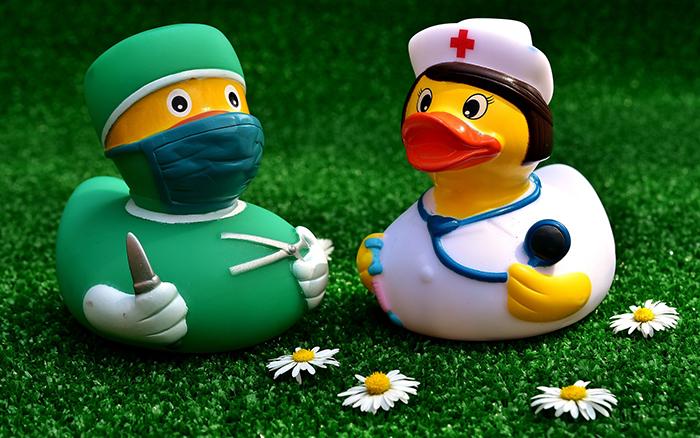 アヒルのドクターとナース