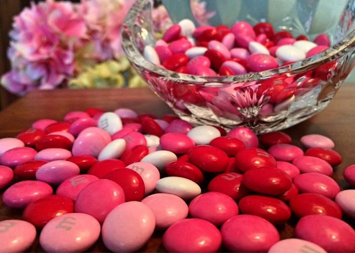 ピンクのチョコ